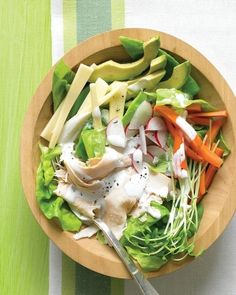 Chef's Salad with Turkey, Avocado, and Jack Cheese | 43 No-Cook Dinners You Can Make Without Turning On Your Stove