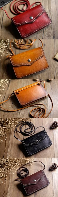 Handmade Leather phone bag shoulder bag for women leather