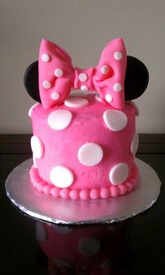 Minnie Mouse 1st Birthday Smash Cake By T_Cakes on CakeCentral.com
