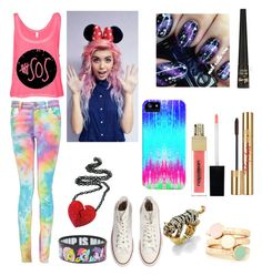 """Colorful 5SOS - My Brother's set #3"" by vickyy-delgadoo ❤ liked on Polyvore featuring Boohoo, My Little Pony, Palm Beach Jewelry, Converse, Barry M and Napoleon Perdis"