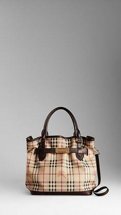 Burberry - Medium Haymarket Check Tote Bag - perfect fall bag