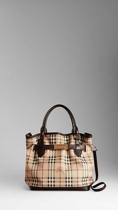 Burberry - MEDIUM HAYMARKET CHECK TOTE