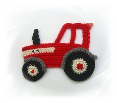 Tractor application, crochet tug, crochet patch tractor