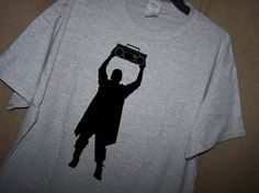 SAY ANYTHING John Cusack Holding Boom Box T by TheStickyWitch