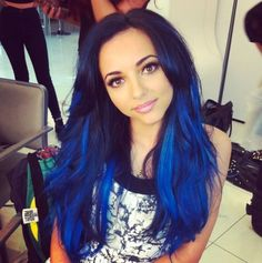 I have a slight obsession with blue hair and Jade from little mix really rocks this style!