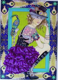 Creative Haven Steampunk Fashions Coloring Book (Creative Haven Coloring Books): Marty Noble:  By Amazon Customer on Sep 21, 2015