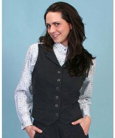 Scully Women's Black Victorian Style Vest #Retro #vintage #Style #Western #Steampunk