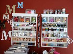 Scraproom: Making Memories Shelves, Monograms, and Vinyl