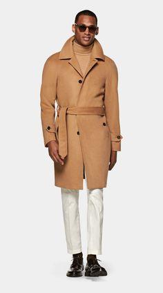 Camel Coat Men, Polo Coat, Smart Casual Men, Man About Town, Brown Belt, Modern Man, Double Breasted, Menswear, Mens Fashion