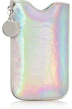 Stella McCartney|Holographic faux leather iPhone 4 sleeve|NET-A-PORTER.COM