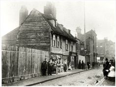 Flagon Row, Wellington Street, Deptford, Lewisham, c. Victorian Life, Victorian London, Vintage London, Old London, London History, British History, Candid Photography, Street Photography, St Nicholas Church