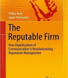 The Reputable Firm: How Digitalization Of Communication Is Revolutionizing Reputation Management PDF Reputation Management, Management Tips, Continue Reading, Online Marketing, Communication, This Book, Social Media, Thoughts