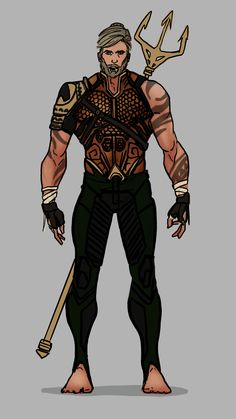 Aquaman - I kinda wanted to represent the two worlds thing in his suit. Here his pants are Earth made diving pants, his top is Atlantean.