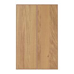 HYTTAN Porte élément bas d'angle, 2pcs IKEA Les variations visibles dans le grain du bois confèrent un aspect naturel et chaleureux au meuble.
