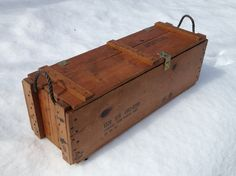 Storage Wood Ammo Box Authentic Rustic Coffee Table by jon4him26