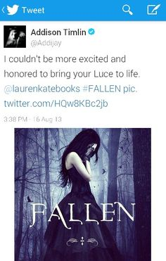 Addison Timlin as Lucinda Price! Addison will be great! Lauren Kate Fallen Series, Fallen Saga, Addison Timlin, Beloved Book, Dont You Know, Fallen Angels, Music Tv, Book Characters, Hush Hush
