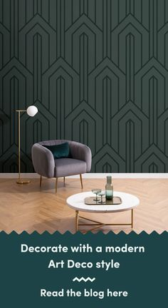 6 Art Deco Wallpapers To Create A Luxurious Interior Art Deco Wallpaper, Luxury Wallpaper, Modern Wallpaper, Living Room Themes, Clinic Design, Modern Art Deco, Chrysler Building, Art Deco Design, Luxury Interior