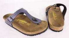 BIRKENSTOCK 260 Gizeh Thong Sandals Size 40 L 9 M 7 Onyx Blue Shoes Flip Flops #Birkenstock #FlipFlops #Casual