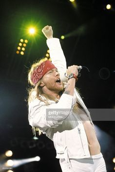 STADIUM Photo of Axl ROSE and GUNS N' ROSES and GUNS & ROSES and GUNS AND ROSES, Axl Rose performing live onstage at the Freddie Mercury Tribute Concert