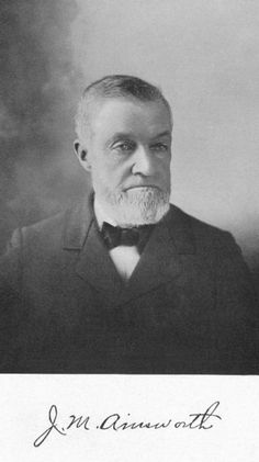 J. M. Ainsworth - John Marion Ainsworth started first police force in town.  He called it the Hicksville Detective Agency.