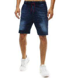 Tmavomodré pánske džínsové kraťasy Denim Shorts, Jeans, A Good Man, Knitted Fabric, Outfit, Cotton, Fashion, Outfits, Moda