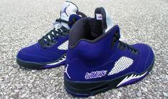 "5308738c3f66 Air Jordan 5 ""NU Wildcats"" by Mr. Exclusive Customs Jordan Model"