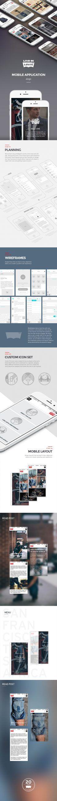 Levi's Mobile App on Behance - App Templates - Ideas of App Templates - Levi's Mobile App on Behance Best Mobile Apps, Behance, Templates, Ideas, Stencils, Vorlage, Thoughts, Models