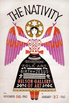 Alexandr Girad- El cartel es de una exposición en Kansas City en 1962, que incluía 170 belenes de su colección personal
