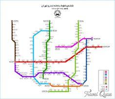 awesome Tehran Subway Map