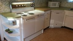 Kitchen Cabinets, Stove, Kitchen, Home, Vintage Stoves, 60s Kitchen, Mid Century House, Home Decor, Double Oven Stove