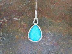 Beautiful Turquoise & Diamond Pendant!