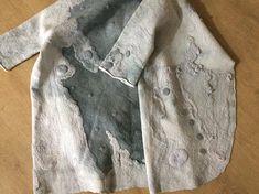 Women coat oversized wearable art nuno felted coat
