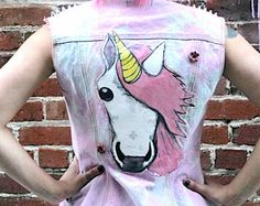 unicorn diy denim jacket