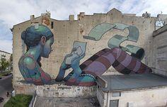 Gargantuan Street Murals by Aryz