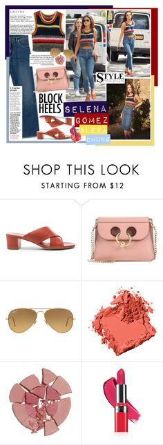 """""""Selena Gomez in Alexa Chung"""" by mf-fashion-and-styling-perth ❤ liked on Polyvore featuring Mansur Gavriel, J.W. Anderson, Ray-Ban, Bobbi Brown Cosmetics, Charlotte Tilbury, Chanel, Avon, selenagomez and alexachung"""