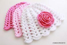 Ravelry: Baby Hat Rose Flower by Lyubava Crochet