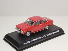 KONAMI MAZDA FAMILIA ROTARY COUPE M10A 1968 RED 1/64 JAPAN #Konami #Mazda