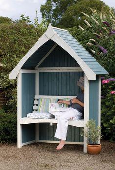 Limoge Arbour - Banc couvert - Bleu - Forest Garden