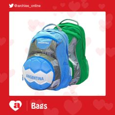 Archies football bags   #fifa #worldcup #soccer #brazil #football #quotes #fifa2014 #brasil2014 #messi #ronaldo #footballteam #archiesonline #gifts #greetingcards #RioCafe #argentina #arsenal #liverpool #chelsea  http://www.archiesonline.com/shop/gifting