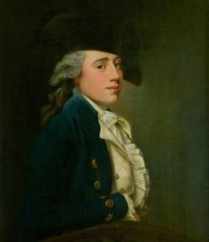 Portrait of young Captain Edward Salmon, by Joseph Wright of Derby. (c1770s. Collection: The National Trust for Scotland)