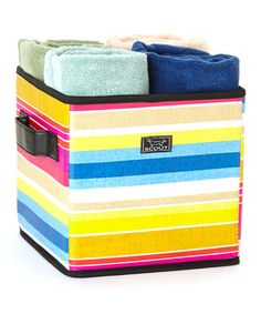 Take a look at this Ombre Stripe Collapsible Storage Bin by Scout by Bungalow on #zulily today!