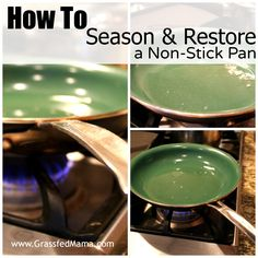 How to Restore a Non Stick Pan - Grassfed Mama Red Copper Skillet, Red Copper Pan, Copper Pans, Household Cleaning Schedule, Cleaning Hacks, Household Tips, Cleaning Solutions, Cooking Boneless Pork Chops, Copper Cooking Pan