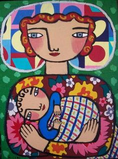 Rebecca  Cool - Mother With Baby In Blanket