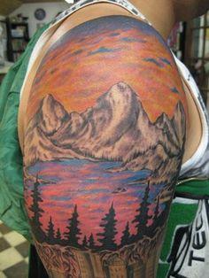 best mountain scene tattoo - Google Search
