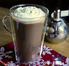 Eggnog Hot Chocolate #christmas #recipe