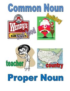 game for practicing common nouns & proper nouns (free)-first quarter