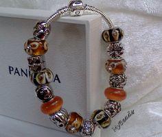 Schickes Original Pandora* Armband, 925 Silber ALE mit 16 Elementen von Elemento und einem anderen Hersteller.   Die Beads sind keine Original Pandora