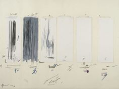 Cy twombly untitled 1970 crayon graphite pencil ink oil stick colored pencil tape and cut and Robert Rauschenberg, Pencil Art, Pencil Drawings, Cy Twombly Paintings, Abstract Expressionism, Abstract Art, Paper Installation, New York Museums, Torn Paper