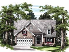 Cottage House Plan with 1222 Square Feet and 3 Bedrooms(s) from Dream Home Source | House Plan Code DHSW09310