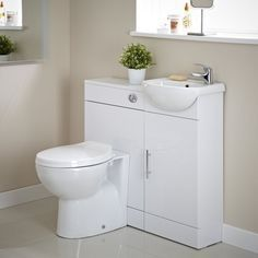 Toilet, sink & storage - all together!